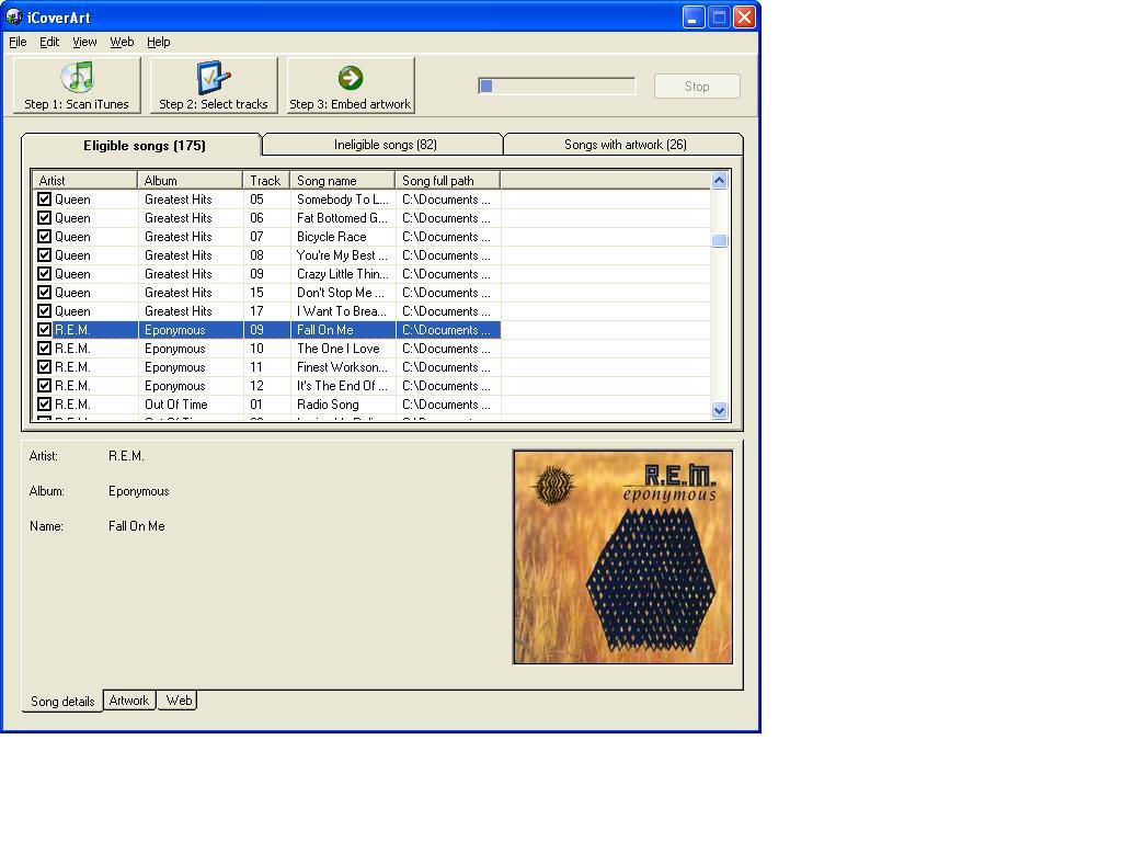 Click to view iCoverArt 1.1 screenshot